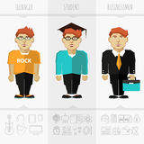 Stage of education, age and progress Stock Images