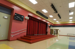 Stage at Elementary School Stock Photography