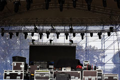 Stage equipment for a concert Royalty Free Stock Photography