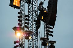 Stage equipment for a concert stock photography