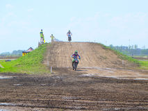 Stage of the European championship in motocross in classes 65, 85 and open. Royalty Free Stock Photography