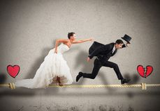 Stage a failed marriage Royalty Free Stock Image