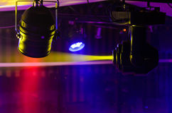 Stage Fresnel lights and reflector spotlight Stock Images