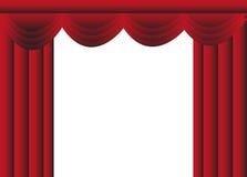 Stage gardinen Arkivfoton