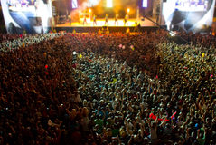 Stage with giant crowd royalty free stock image