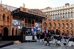 The stage of Grand Theatre on  Venice Carnival Stock Photo