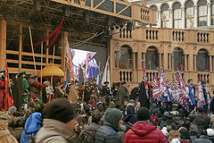The stage of Grand Theatre on  Venice Carnival Royalty Free Stock Photos