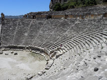 Stage of the Greco-Roman theater in Turkey Royalty Free Stock Images