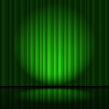Stage with green curtain Stock Photography