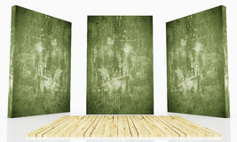 Stage green grunge Royalty Free Stock Photography