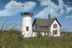 Stage harbor lighthouse Royalty Free Stock Photography