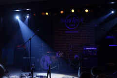 Hard Rock Cafe stage, Bucharest, Romania Stock Photo