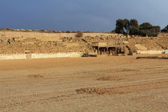 Stage of the Hippodrome in Caesarea Maritima National Park Royalty Free Stock Images
