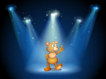 A stage with a huggable bear Stock Photo