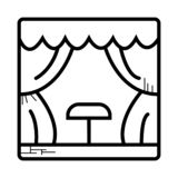 Stage icon vector vector illustration