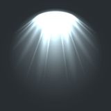 Stage ies lights with smoky effect background. Vector Royalty Free Stock Image