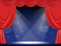 Stage. Illustration of  an empty stage Stock Images