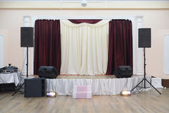 Stage. The image of a stage royalty free stock photo