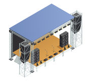Stage Isometric Poster Stock Image