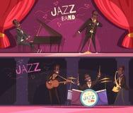 Stage Jazz Banners Set stock illustration