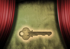 Stage Key. Glowing Key takes center stage Stock Photography