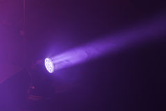 Stage LED spot light with purple beam Stock Images