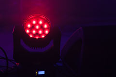 Stage LED spot light with red mood Royalty Free Stock Photos
