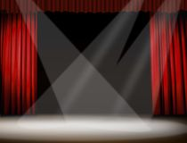 Stage light. Image of stage with three spot light Royalty Free Stock Photo