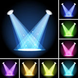 Stage light. Clipping Mask. Mesh. EPS10 Royalty Free Stock Images