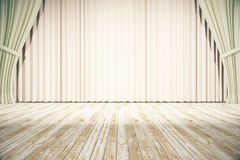 Stage with light curtains Royalty Free Stock Photos