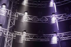 Stage light equipment royalty free stock photos