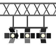 Stage light on ramp Stock Photos