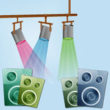 Stage Light Speaker Royalty Free Stock Images