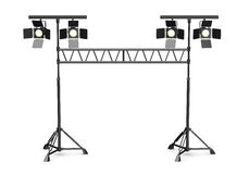 Stage light on stands Stock Images