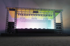 Stage lighting. At night event stock photo