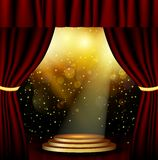 Stage lighting background with spotlight effects Royalty Free Stock Photography
