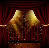 Stage lighting background with spotlight effects Royalty Free Stock Photos
