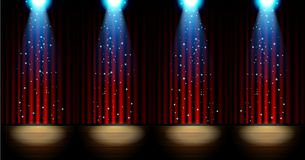 Stage lighting background with spotlight effects Stock Images