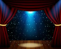 Stage lighting background with spotlight effects Stock Photography