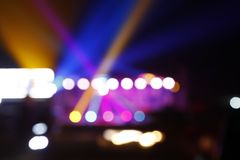 The stage lighting, bokeh. ,A close-up royalty free stock image
