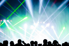 Stage Lighting. Brilliant stage lighting and laser effects Stock Image