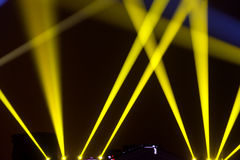 Stage Lighting. Dazzling stage lighting close-up royalty free stock photo