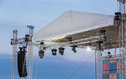 Stage lighting equipment Royalty Free Stock Image