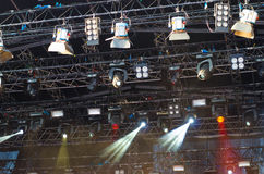 Stage lighting/sound Stock Images