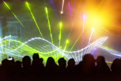 Stage Lighting. Various shapes colorful stage lighting stock photo