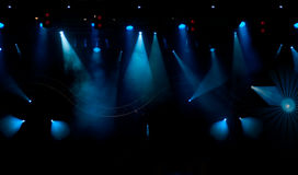 Stage lights. Stage with light and smoke background Stock Photos