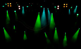 Stage lights. Stage with light and smoke background Royalty Free Stock Photo