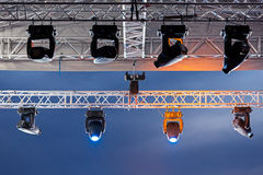 Stage lights Royalty Free Stock Photography