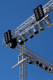 Stage lights. Concert stage lights spot illumination theater show stock image
