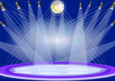 Stage lights royalty free illustration